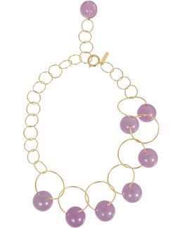 Necklace In Metal And Spheres