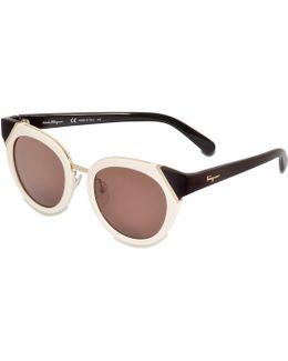 Colorblock Tea Cup Sunglasses