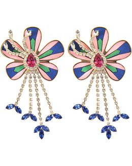 Alcantara Flower Earrings