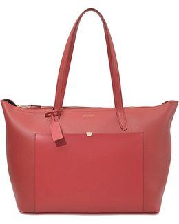 Panama East West Leather Tote