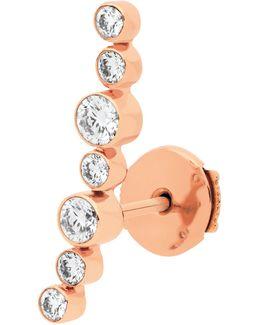 Sakura Mono Earring 750‰ Gold And Diamonds