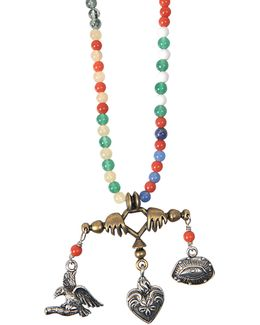 Santeria Beads And Charms Necklace