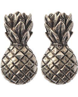 Tropical Dream Pineapple Clip Earrrings