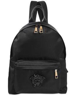 Palazzo Nylon And Studs Backpack