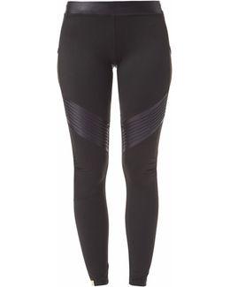 Biker Leggings Black Glossy