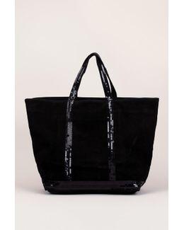 Cabas Tote Cotton Medium Noir