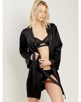 Langley Robe In Noir