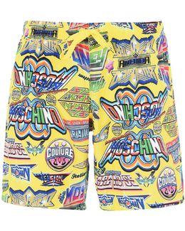 Printed Swim Shorts - Size L