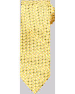 Gold Mini Geo Silk Tie