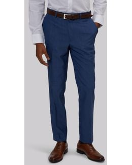Slim Fit Faded Blue Trousers