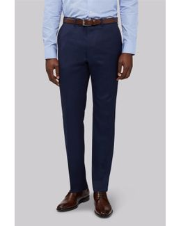 Slim Fit Bright Blue Milled Trouser