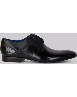 City Pelton Black High Shine Shoes