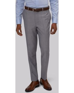 Slim Fit Silver Trousers