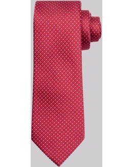 Red & Blue Circle Silk Tie