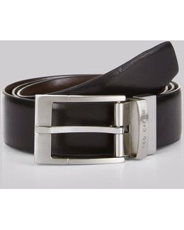 Reversible 'connary' Belt Black/brown