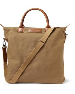 O'hare Leather-trimmed Organic Cotton-canvas Tote Bag