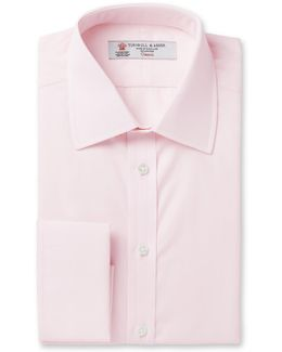 Pink Double-cuff Cotton Shirt