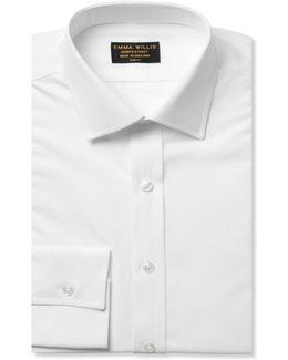 White Slim-fit Cotton Shirt