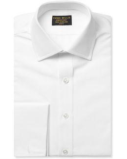 White Double-cuff Cotton Shirt