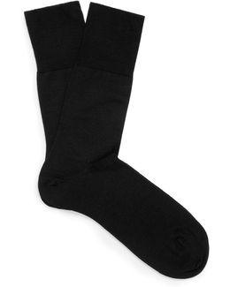 Airport Merino Wool-blend Socks