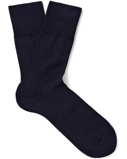 Airport Wool And Cotton-blend Socks