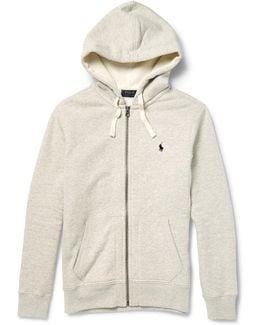 Marl Cotton-blend Zip-up Hoodie
