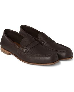 281 Le Moc Grained-leather Loafers