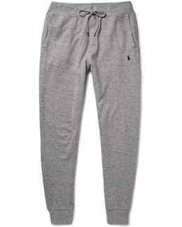 Ribbed Cotton-blend Jersey Sweatpants