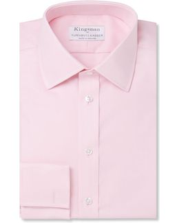 Turnbull & Asser Pink Double-cuff Royal Oxford Cotton Shirt