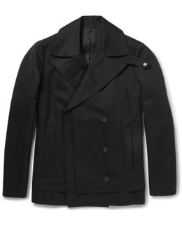 Double-breasted Cotton Peacoat