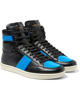 Sl10 Leather High-top Sneakers