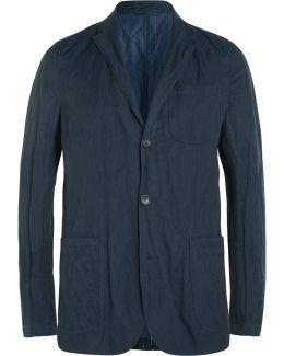 Navy Slim-fit Twill Blazer