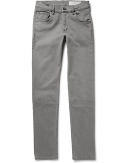 Two Slim-fit Washed-denim Jeans