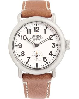 The Runwell 36mm Stainless Steel And Leather Watch