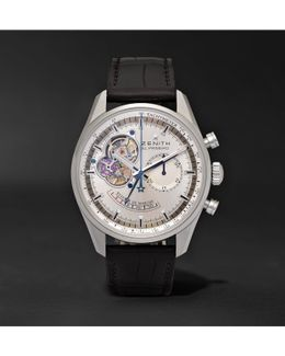 El Primero Chronomaster 42mm Stainless Steel And Alligator Watch