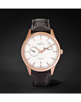Power Reserve 40mm 18-karat Rose Gold Stainless Steel And Alligator Watch