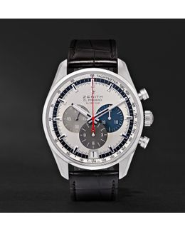 El Primero 42mm Stainless Steel And Alligator Watch