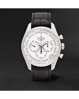 Elite Ultra-thin Roman Dial 40mm Stainless Steel And Alligator Watch
