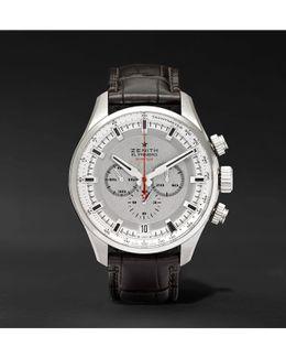 El Primero Sport 45mm Stainless Steel And Alligator Watch