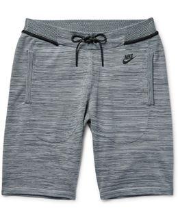 Mélange Tech Knit Cotton-blend Shorts