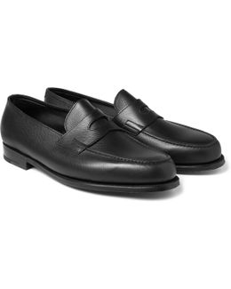 Grained-leather Penny Loafers