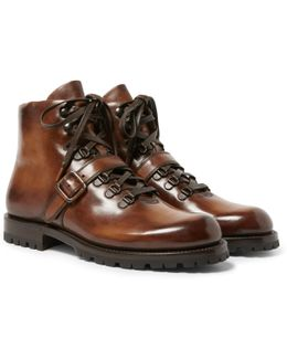 Brunico Polished-leather Boots