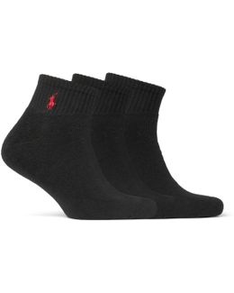 Three-pack Cotton-blend Socks