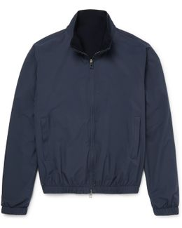 Reversible Storm System Shell And Cashmere Bomber Jacket
