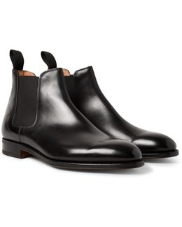 Lawry Polished-leather Chelsea Boots