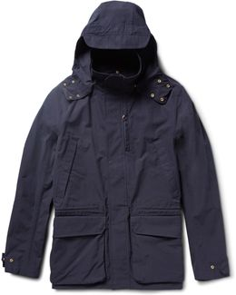 Cotton-canvas Hooded Jacket
