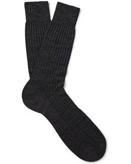 'priory' Spiral Pinstripe Socks