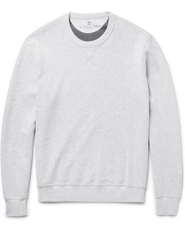 Double-faced Cotton-blend Jersey Sweatshirt