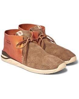 Huron Leather And Suede Sneakers