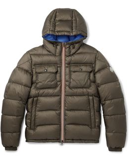 Morane Quilted Shell Hooded Down Jacket